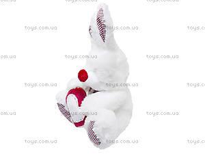 Белый зайчик «Пакки», К195, фото