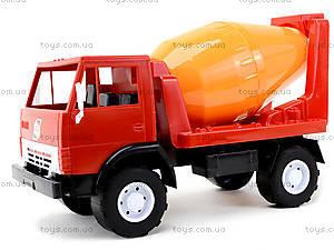 Детская машинка пластмассовая «Бетономешалка», 044, фото