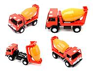 Детская машинка пластмассовая «Бетономешалка», 044, купить