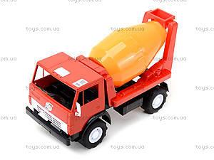 Детская машинка пластмассовая «Бетономешалка», 044, отзывы