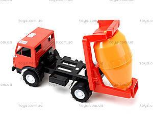 Детская машинка пластмассовая «Бетономешалка», 044, цена
