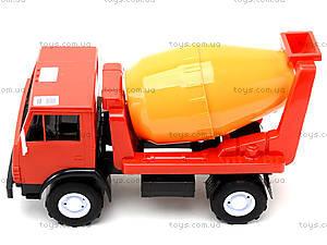Детская машинка пластмассовая «Бетономешалка», 044, детские игрушки