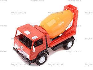 Детская машинка пластмассовая «Бетономешалка», 044, магазин игрушек
