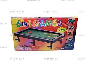 Бильярд 6 в 1, 20026, toys
