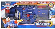 Бластер музыкальный с паралоновыми пулями синий, SB245, магазин игрушек