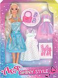 Набор с куклой блондинкой «Блестящий стиль», 35065