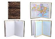"""Блокнот А5 """"Вензеля"""", в клетку, 180 листов, 2 карты, белая бумага, WB5360, Украина"""