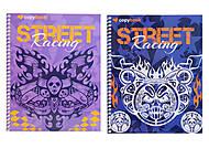 Блокнот в клеточку серии Street Racihg, 40 листов, Ц355034У, фото