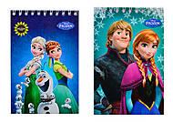 Блокнот А6 серии Frozen, 50 листов, Ц558005У, фото