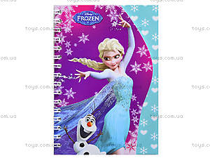 Блокнот на пружине Frozen, 50 листов, Ц558008У, купить