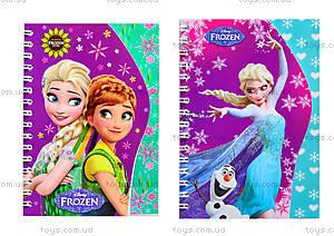 Блокнот на пружине Frozen, 50 листов, Ц558008У