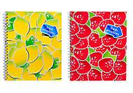 Блокнот на пружине «Серия Фрукты модерн», 80 листов, 1020272, фото