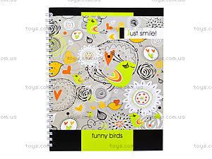 Блокнот на пружине «Серия Just smile», 80 листов, 1020271, фото