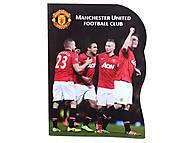 Блокнот Manchester United, 60 листов, MU14-223K, игрушки