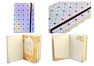Блокнот, на поролоне, на резинке, 144 листа, в клетку А5, 13*19 см, неон, WB-5691, оптом