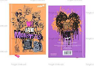 Блокнот с твердой обложкой Monster High, 80 листов, MH15-228K