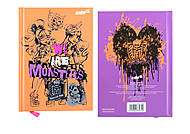 Блокнот с твердой обложкой Monster High, 80 листов, MH15-228K, фото