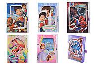 Блокнот замочек с ключиком, CLR902, детские игрушки