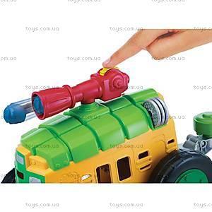Боевой транспорт с фигуркой Леонардо «Малыши Черепашки-Ниндзя», 96776, фото