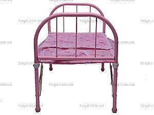Большая кроватка для куклы, 6868, фото