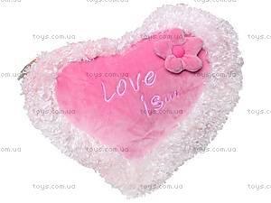 Большая подушка «Сердце-цветок», К103СЕ, фото