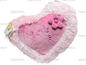 Большая подушка «Сердце-цветок», К103СЕ