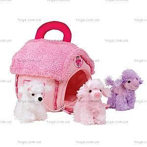 Мягкий домик-сумка с пуделями, 21-912091