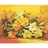 Букет в желтом цвете, картина по номерам, КНО2037, фото