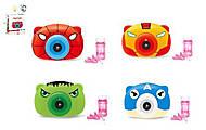 """Генератор мыльных пузырей """"Камера - Супергерои"""" со звуком и светом 4 вида, PP333-1234, купить"""