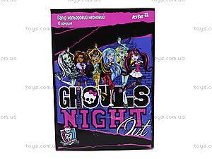 Бумага цветная неоновая Monster High, MH14-252K