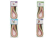 Бумага для квилинга ширина 7мм, длина 54см, 16 цветов, C37119, детские игрушки