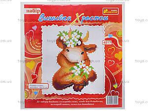 Набор для вышивания «Буренка в веночке», 4817, фото