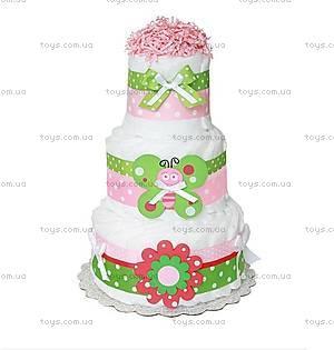 Торт из подгузников для девочки Butterfly, BH11