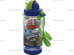 Детская бутылка для воды «Машинки», 704154