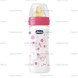 Бутылочка пластиковая для кормления Well-Being, 250 мл, соска латекс, 70722.10.04