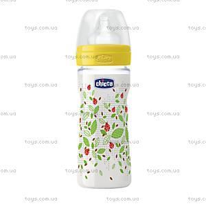 Бутылочка пластиковая Wellbeing 250 мл, соска силиконовая, 70760.01.04