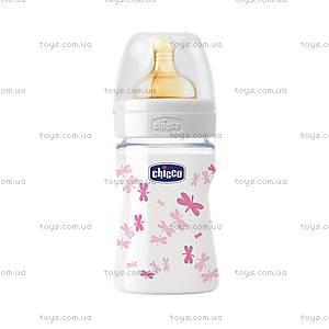 Бутылочка стеклянная 150 мл, с латексной соской, 70810.11