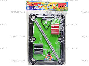 Детский настольный бильярд с аксессуарами, 3213-B, детские игрушки