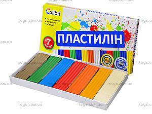 Детский пластилин «Яркие пятна», 7 цветов, Ц259010У, цена