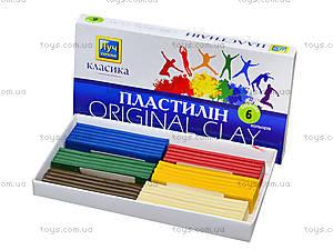 Пластилин «Луч» классика, 6 цветов, Ц259012У, купить