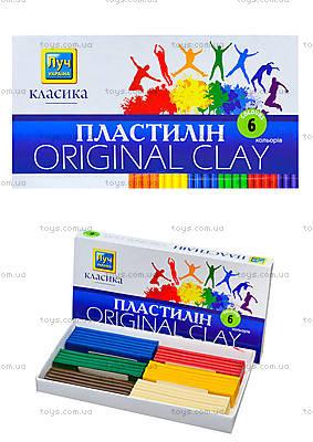 Пластилин «Луч» классика, 6 цветов, Ц259012У