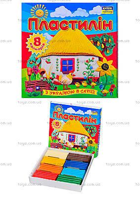 Детский пластилин «Моя страна», 8 цветов, Ц259015У