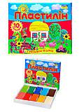 Пластилин для детей «Моя страна», 10 цветов, Ц259016У, фото