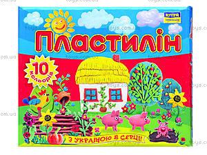 Пластилин для детей «Моя страна», 10 цветов, Ц259016У, отзывы