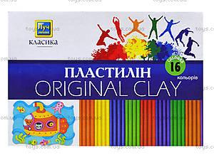 Пластилин Луч Классика, 16 цветов, Ц259023У, отзывы