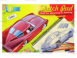 Альбом для рисования «Ретро-авто», 8 листов, Ц260025У, цена