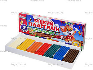 Пластилин для малышей с воском, 7 цветов, Ц348014У, купить