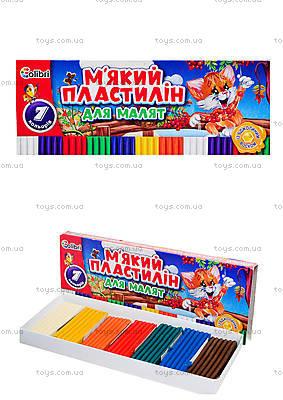 Пластилин для малышей с воском, 7 цветов, Ц348014У