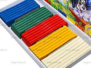 Мягкий пластилин с воском, 5 цветов, Ц348015У, фото