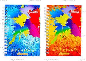 Блокнот А6 «Яркие цвета», 100 листов, Ц355022У